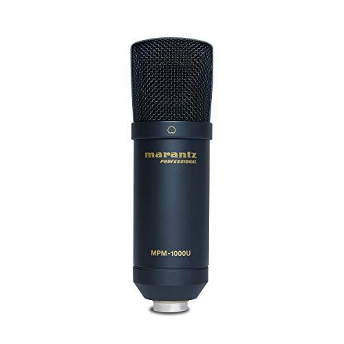 Marantz Professional MPM-1000U - Großmembran USB Kondensator Mikrofon mit Nierencharakteristik für Podcasting und Studio Recording, Twitch, Gaming inkl. USB-Kabel und Mic Clip