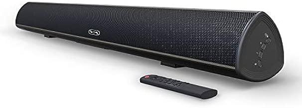 100 Watt 40 Inch TV Sound Bar, BESTISAN Home Theater System Wired and Wireless Soundbar Speaker(Bluetooth 5.0, 105dB, Dsp Audio, Bass Adjustable, Wall Mountable)
