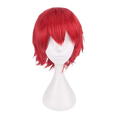 serliy Multi Farbe kurze glatte Haare Perücke Anime Party Cosplay Voller Verkauf Perücken 35cm (rot)