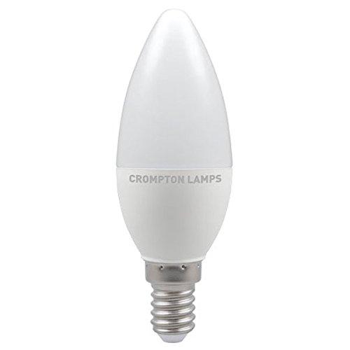 Crompton LED Kaars Thermische Kunststof 5.5W E14 Koel Wit Opaal Dimbaar