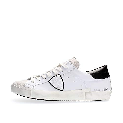 Philippe Model Sneakers Prsx Basic Blanc Noir Uomo Mod. PRLU 43
