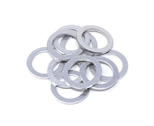 10x Wrenchturn Engine Oil Drain Plug Gaskets (Washers) for Hyundai and Kia Replaces 21513-23001