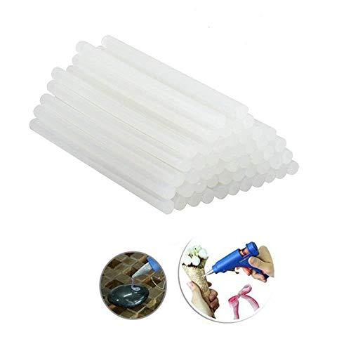 AUFUN Heißklebestifte Heißklebesticks 7x200mm, 1 Kilo- DIY Ersatzsticks Klebesticks für Heißklebepistole (Semi-transparent 7x200 mm,1KG)