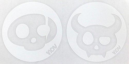 ノベンバー NOVEMBER スノーボード ステッカー CHARA-F フェイスデザイン (WHITE)