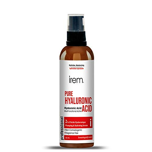 Irem Pure Hyaluronic Acid Serum 50ml (1.68 fl.oz), Pure Organic HA, Anti Aging, Anti Wrinkle, The Smart Face Moisturizer for Dry Skin and Fine Lines, Leaves Skin Full and Plump