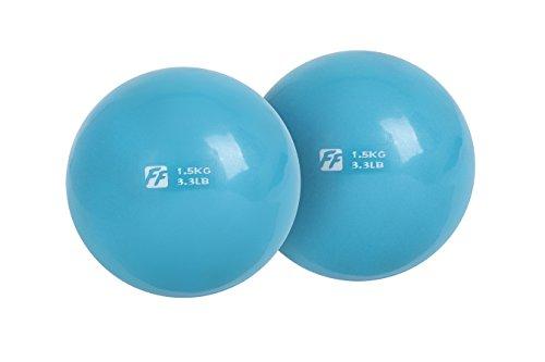 FuntionalFitness - Par de pelotas de tonificación para yoga, 2 x 1,5 kg