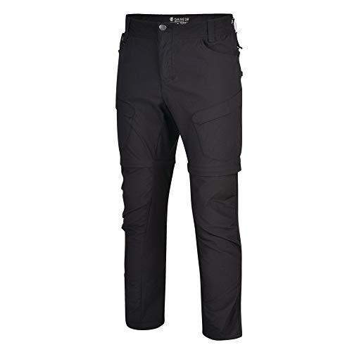 Dare 2B Tuned in II Zip off Water Repellent Hiking Outdoor, Pantaloni Uomo, Nero, 33-inch
