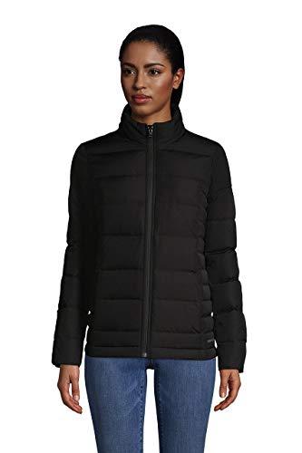 Lands' End Womens Puffer Down Jacket Black Regular Medium