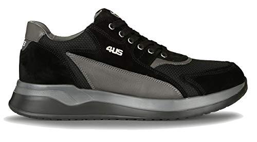 4US Cesare Paciotti SSDU2TCA Cricket Sneakers Uomo (39 EU, Nero (Black))
