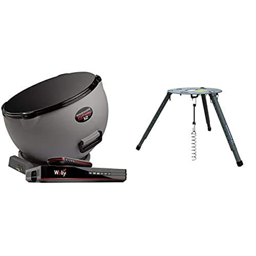 Winegard Pathway X2 PA6002R Satellite TV Antenna with Dish Wally Receiver and Portable Tripod Mount