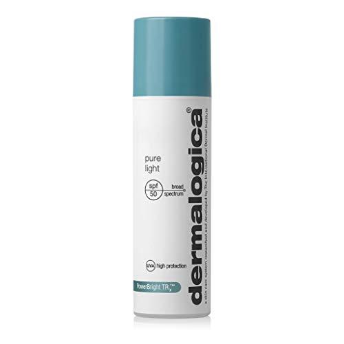 Dermalogica Pure Light SPF50 (1.7 Fl Oz) Hyperpigmentation Treatment Sunscreen with Hyaluronic Acid - Eliminates Dark Spots, Hydrates and Shields Skin