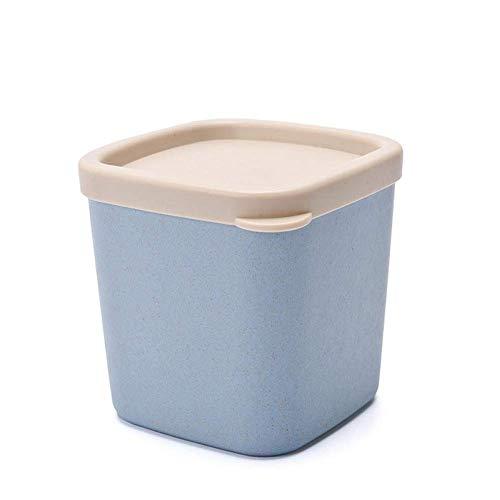 Lata sellada de alimentos de paja de trigo nórdico con tapa Caja de organizador de tanque de almacenamiento de granos Tanque de almacenamiento de alimentos Contenedor de almacenamiento de cocina Lata