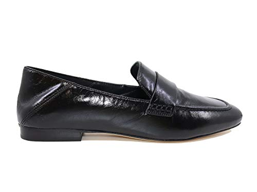 Michael Kors Emery Moc Mocassin pour femme en cuir noir - Noir - noir, Medium EU