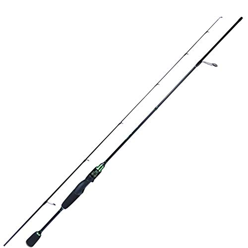 Sougayilang Fishing Rods Ultra-Sensitive Carbon Spinning Rods Blanks with Comfort EVA Grip Rod Handle Trout Rod(Green 6ft/1.8m
