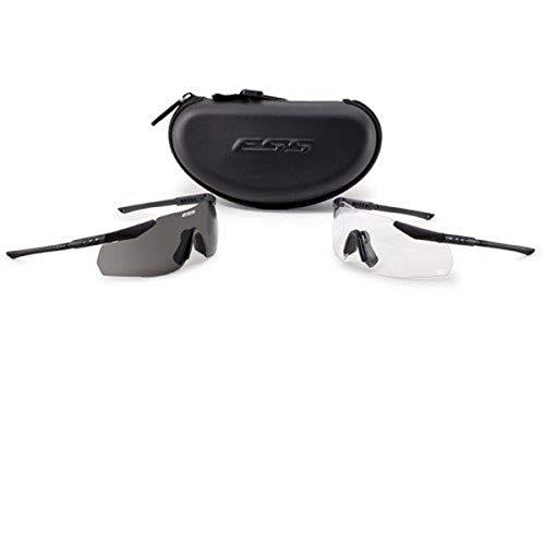ESS Eyewear Hielo 2x Naro Eyeshield Kit, Negro
