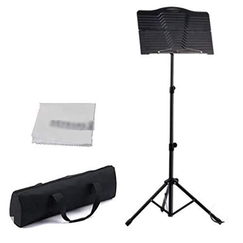 Lessenaar Folding Music Stand Portable Metalen Hoogte telescopische Belt Band Violin Piano Guitar Musical Instrument waterdicht for opslag of Travel 1210 muziektafel