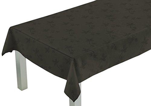 Comptoir du Linge CSI04004 Nappe Rectangulaire Tissu/Polyester/Coton/Téflon Anthracite 200 x 150 x 0,5 cm