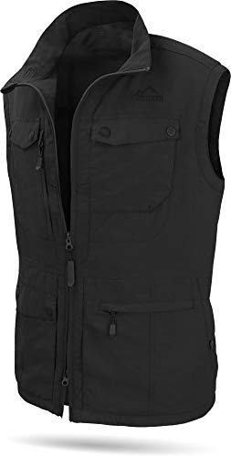 normani Herren Outdoor Weste mit atmungsaktivem Sonnenschutzmaterial 50+ (XS-5XL) Farbe Black Größe S