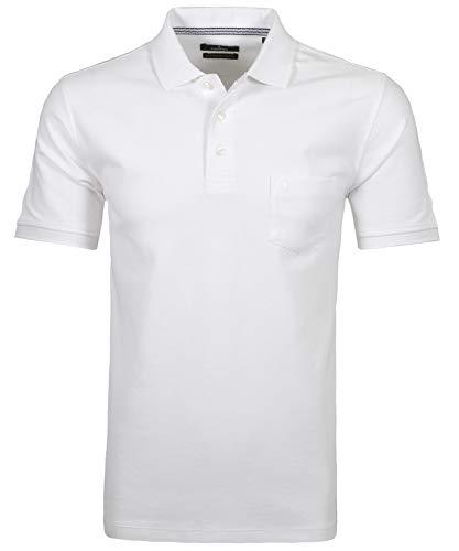 Ragman Herren Poloshirt, Weiß, L