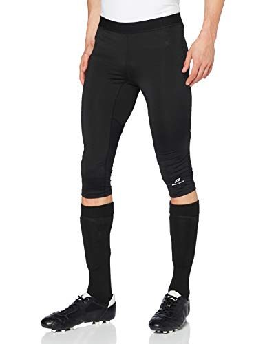Pro Touch Castel 3/4 Tights Hommes, Black/Black/Yellow, FR : 2XL (Taille Fabricant : XXL)