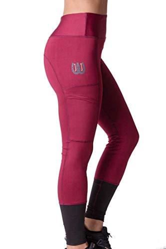 Just Jodz - Reitsport-Hosen für Damen in Burgunderfarben, Größe XS