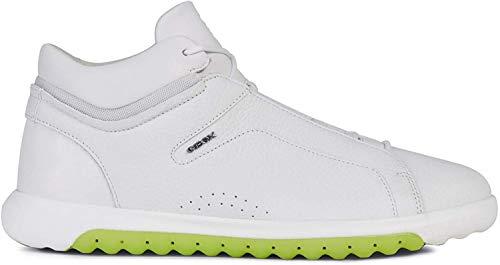 Geox Herren High-Top Sneaker NEXSIDE, Männer Sneaker,Sportschuh,Schnürschuh,Sneaker-Stiefel,mid Cut,White,42 EU / 8 UK