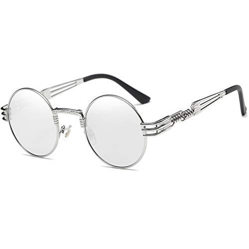 Dollger Retro Round Sunglasses John Lennon Lens Steampunk Style Metal Frame