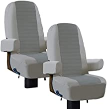 Classic Accessories 80-421-011002-RT Overdrive RV Captain Seat Cover-2 Pack, Grey