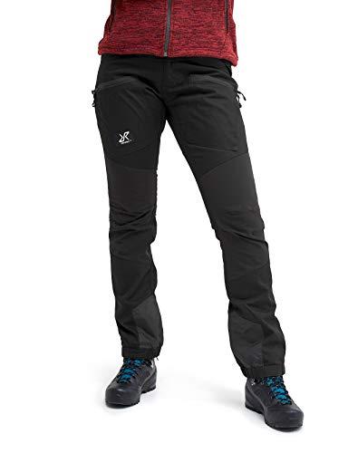RevolutionRace Damen Nordwand Pro Pants, Hose zum Wandern und für viele Outdoor-Aktivitäten, Jet Black, 34