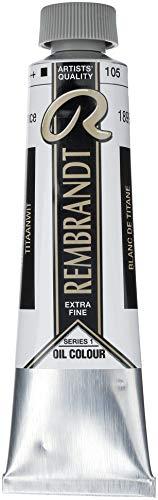 Talens Rembrandt - Excelentes colores de pintura al óleo - 40 ml - 105 Blanco titanio aceite de alazor