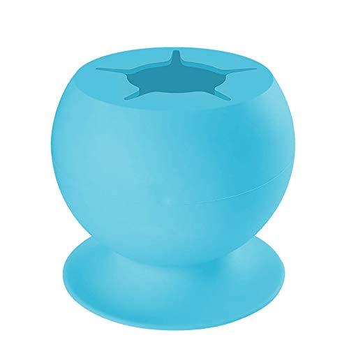 Gpure Cubos de Basura de Reciclaje Silicona Pequeña Organizador Portátil Portalápices DIY Papel de Desecho Creativo Compostera 4 Colores Antimanchas Manualidades para Niños Almacenamiento (Azul)