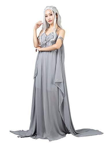 CosFantasy Daenerys Targaryen Khaleesi Cosplay Costume Long Chiffon Dress mp004184 (Small, US Size)