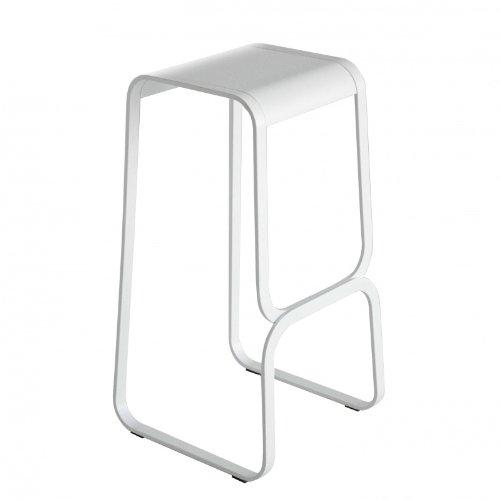 lapalma Continuum barkruk 80 cm, wit leer BxHxD 42 x 80 x 43 cm frame wit