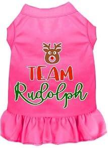 Sales results No. 1 Mirage Pet Product Team Rudolph Screen Dress Pi Bright Print Dog shipfree