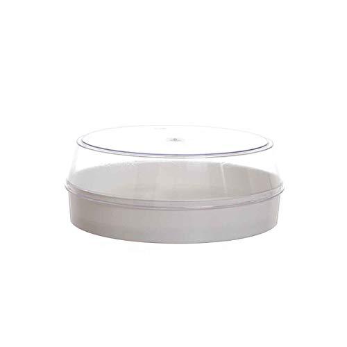 Poloplast witte ijscake doos met transparant deksel 8 porties