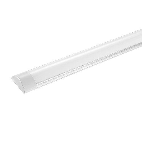 Keymao LED Batten Lamp 30W 3600Lumens 3000K Warm Wit Daglicht Plafond Licht Fluorescerende Licht voor Garage, Winkel, Kantoor, Markt, Kelder.