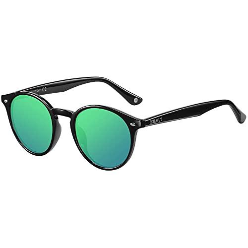 H HELMUT JUST Gafas de Sol para Hombre Mujer Polarizadas Redondas Ligero...