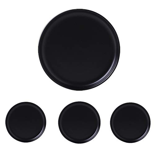 Swuut Matte Ceramic Appetizer Plates 6 Inch,Set of 4, Dishwasher Snack Bread Butter Plates,Mini Size.(6in, Black)