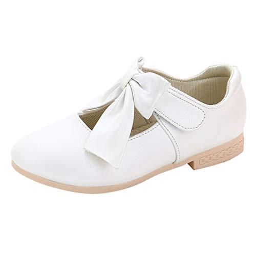 YWLINK Zapatos NiñAs,Arquean Los PequeñOs Zapatos De Princesa Sandalias Fiesta En La Playa Zapatos De Baile Antideslizante Zapatillas CóModo Ocio Lindo Regalo De CumpleañOs(Blanco,29EU)