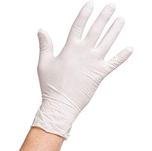 Wegwerp Poedervrij Comfort Latex Handschoenen Voedselbesparing Perfect Voor Serveren In Bruiloften, Feesten, Evenementen - Doos Van 100 (Size : S)