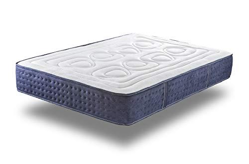 Supercolchón®- Colchón de muelles ensacados Barcelona. 150x190 cm. Viscoelástico, Reversible. +/- 24 cm Altura