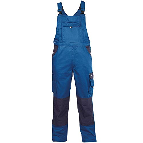 Dassy Latzhose VERSAILLES, 245 g/m², kornblau/dunkelblau, Gr: 54