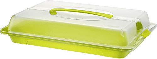 Rotho John Partybutler mit Haube und Griff, Kunststoff (PP) BPA-frei, grün/transparent, (43,5 x 29,5 x 9,0 cm)