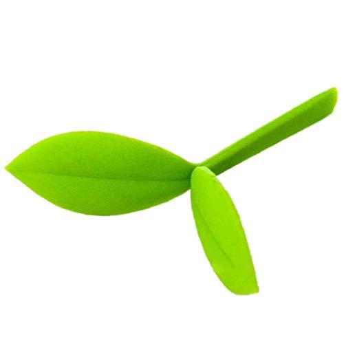TOSSPER 1pc Kleine Lesezeichen, Mini Green Sprout Lesezeichen Silikon Grass Knospen Lesezeichen Für Bookworm Book Lovers