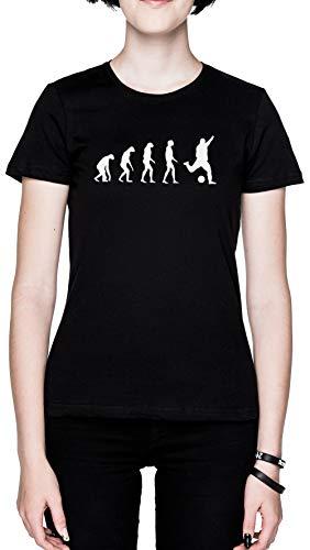 Evolucionado A Tocar Fútbol Negro Mujer Camiseta Tamaño S Black Women