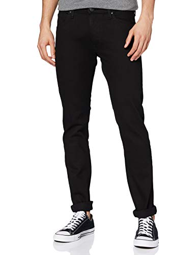 Lee Herren Luke Tapered Fit Jeans, Schwarz (Black Rinse 47), 34W/32L