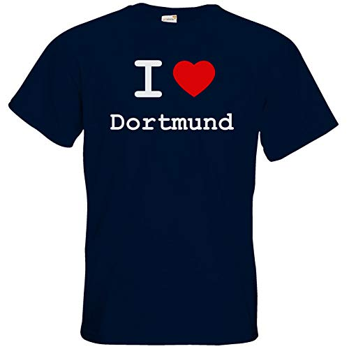 getshirts - Best of - T-Shirt - Love - I Love Dortmund - Navy 4XL