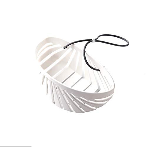 Lintat Cesta de drenaje para colgar con esponja, cesta de almacenamiento para fregadero de cocina y escurridor, organizador para utensilios de cocina