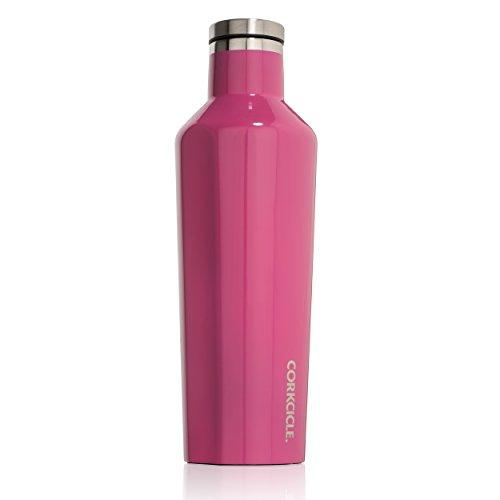 Corkcicle Bottiglia isotermica, Acciaio Inossidabile, Gloss Pink, 47 cl
