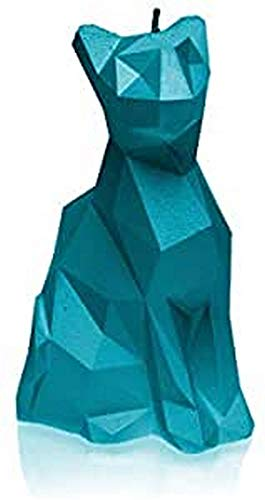 Candellana Cat Candle   Height 15cm   Navy Blue   Handmade in EU